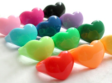 acrylic heart rings
