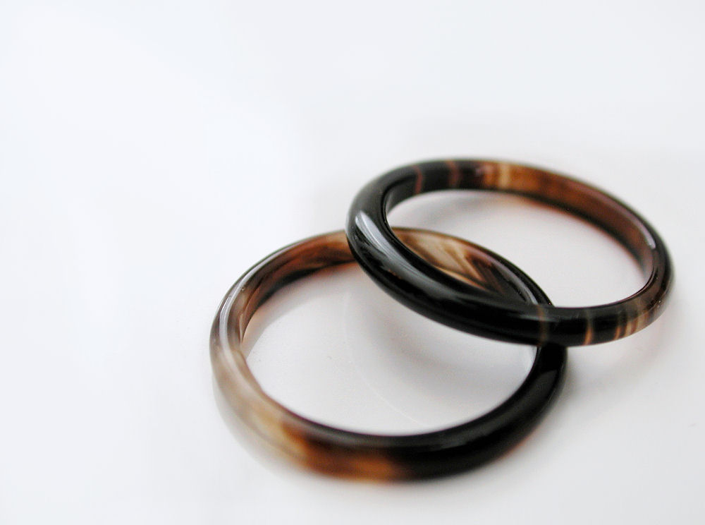 agate band ring pairs