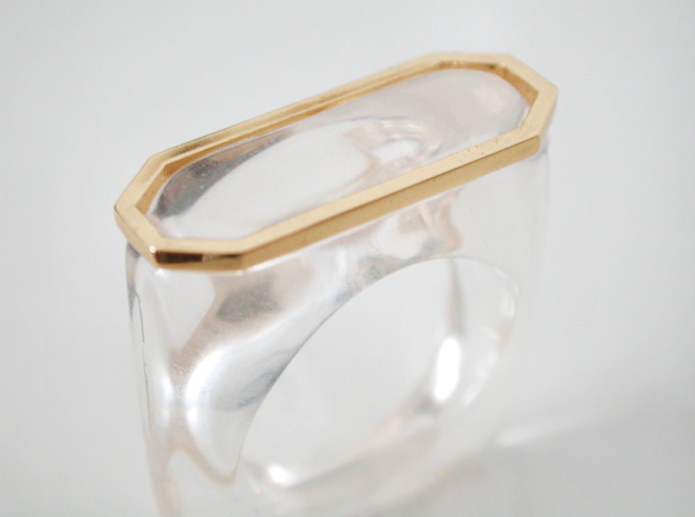 clear acrylic rings - clear lucite rings