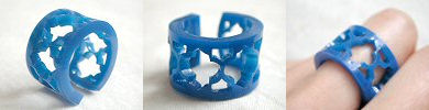 lasercut acrylic ring - blue