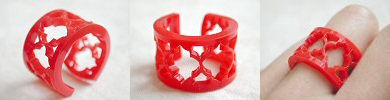 lasercut acrylic ring - red