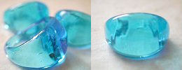 venetian murano glass rings - solid glass dome ring in aqua blue